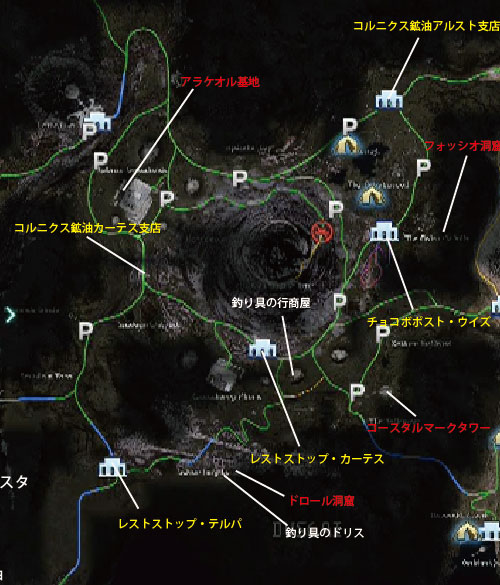 FF15ダスカ地方の全体マップ